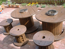 七輪入りテーブル